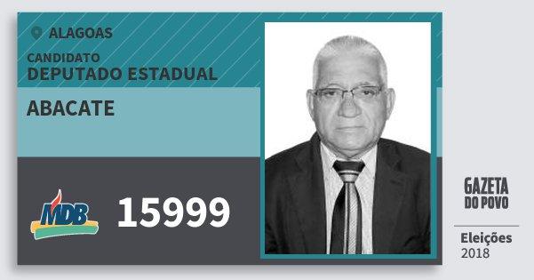 Santinho Abacate 15999 (MDB) Deputado Estadual | Alagoas | Eleições 2018