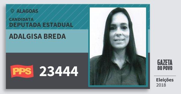 Santinho Adalgisa Breda 23444 (PPS) Deputada Estadual | Alagoas | Eleições 2018