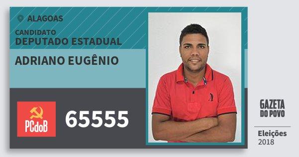 Santinho Adriano Eugênio 65555 (PC do B) Deputado Estadual | Alagoas | Eleições 2018