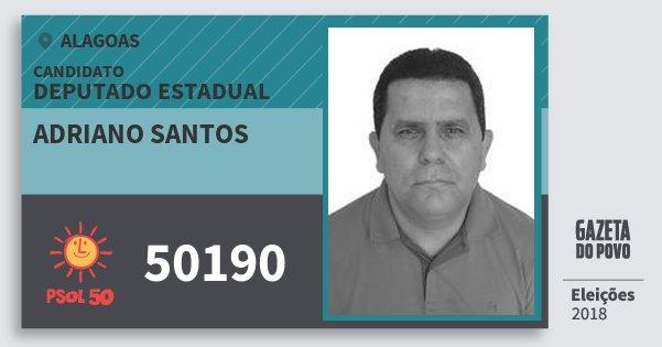Santinho Adriano Santos 50190 (PSOL) Deputado Estadual   Alagoas   Eleições 2018