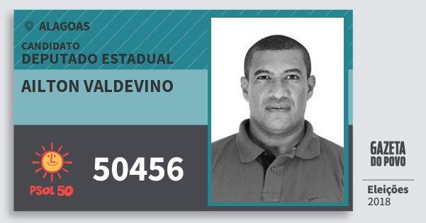 Santinho Ailton Valdevino 50456 (PSOL) Deputado Estadual | Alagoas | Eleições 2018