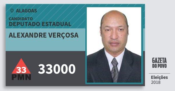Santinho Alexandre Verçosa 33000 (PMN) Deputado Estadual | Alagoas | Eleições 2018