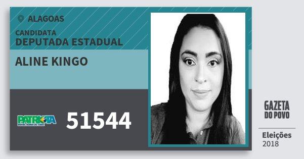Santinho Aline Kingo 51544 (PATRI) Deputada Estadual | Alagoas | Eleições 2018