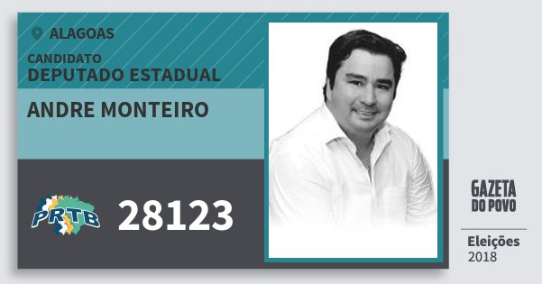 Santinho Andre Monteiro 28123 (PRTB) Deputado Estadual | Alagoas | Eleições 2018