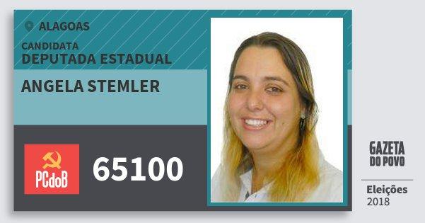 Santinho Angela Stemler 65100 (PC do B) Deputada Estadual | Alagoas | Eleições 2018