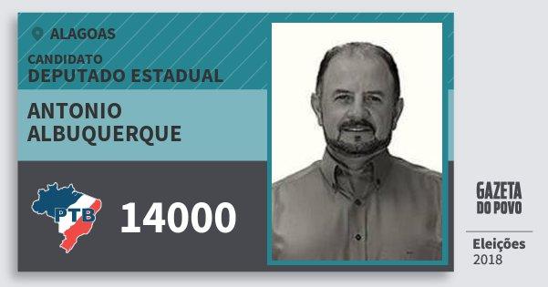 Santinho Antonio Albuquerque 14000 (PTB) Deputado Estadual | Alagoas | Eleições 2018