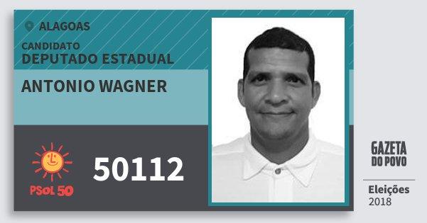 Santinho Antonio Wagner 50112 (PSOL) Deputado Estadual | Alagoas | Eleições 2018