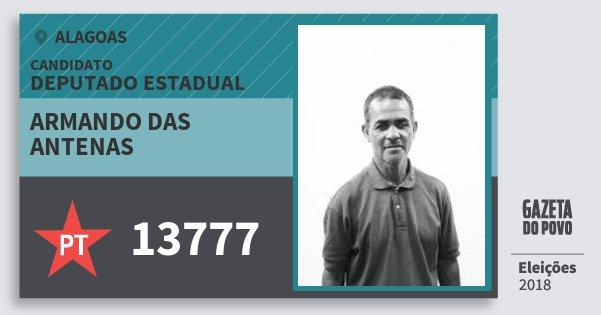 Santinho Armando das Antenas 13777 (PT) Deputado Estadual | Alagoas | Eleições 2018