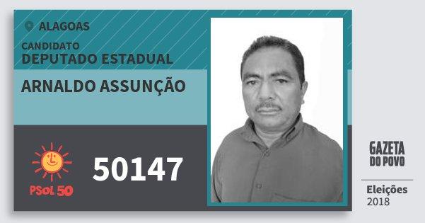 Santinho Arnaldo Assunção 50147 (PSOL) Deputado Estadual | Alagoas | Eleições 2018
