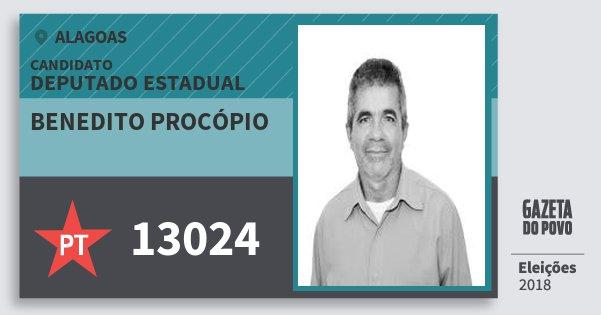 Santinho Benedito Procópio 13024 (PT) Deputado Estadual | Alagoas | Eleições 2018