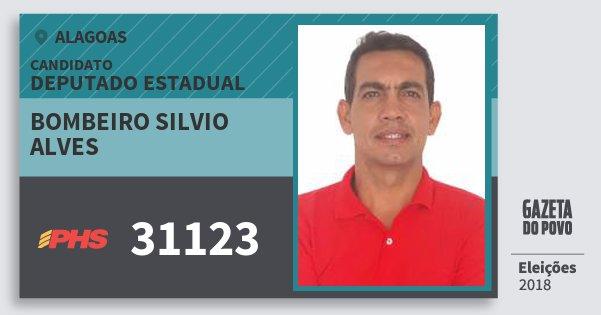 Santinho Bombeiro Silvio Alves 31123 (PHS) Deputado Estadual | Alagoas | Eleições 2018