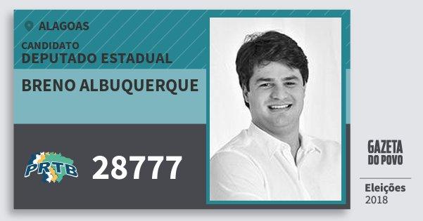 Santinho Breno Albuquerque 28777 (PRTB) Deputado Estadual | Alagoas | Eleições 2018