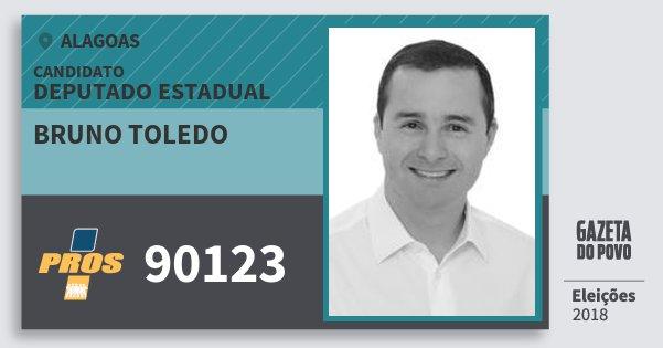 Santinho Bruno Toledo 90123 (PROS) Deputado Estadual | Alagoas | Eleições 2018