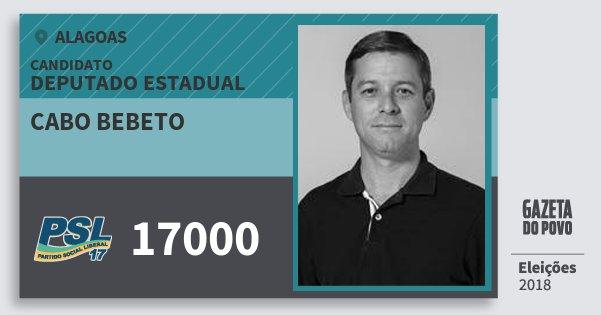 Santinho Cabo Bebeto 17000 (PSL) Deputado Estadual | Alagoas | Eleições 2018