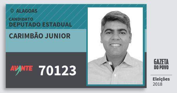 Santinho Carimbão Junior 70123 (AVANTE) Deputado Estadual | Alagoas | Eleições 2018
