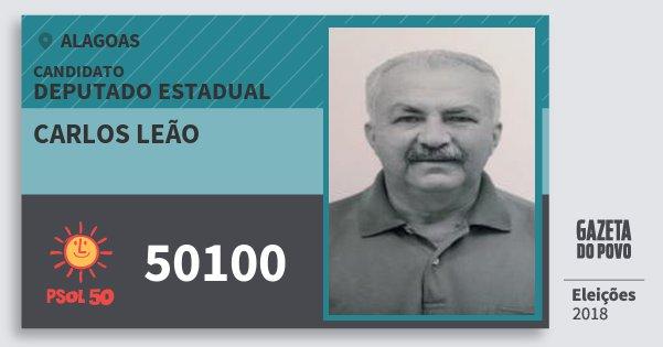 Santinho Carlos Leão 50100 (PSOL) Deputado Estadual | Alagoas | Eleições 2018