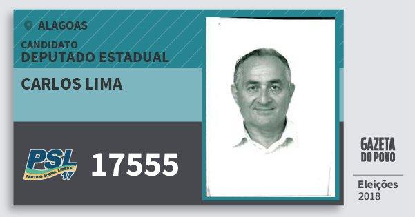 Santinho Carlos Lima 17555 (PSL) Deputado Estadual | Alagoas | Eleições 2018