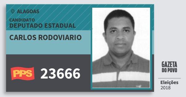 Santinho Carlos Rodoviario 23666 (PPS) Deputado Estadual | Alagoas | Eleições 2018