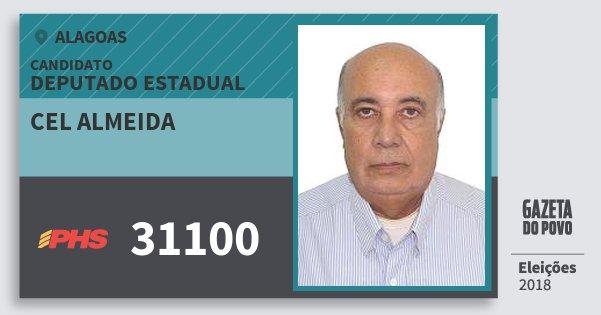 Santinho Cel Almeida 31100 (PHS) Deputado Estadual | Alagoas | Eleições 2018