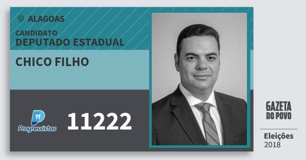 Santinho Chico Filho 11222 (PP) Deputado Estadual | Alagoas | Eleições 2018