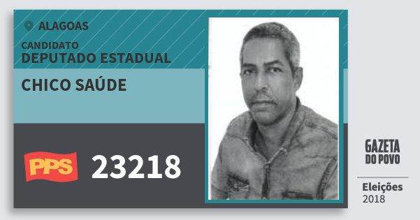 Santinho Chico Saúde 23218 (PPS) Deputado Estadual | Alagoas | Eleições 2018