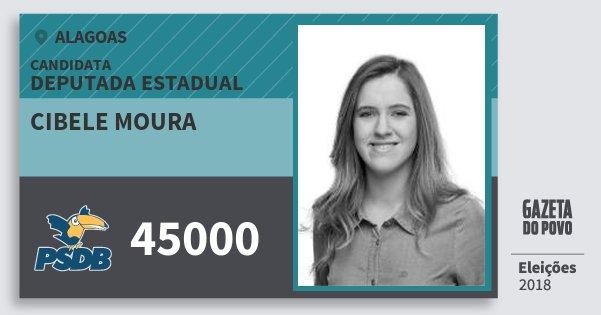 Santinho Cibele Moura 45000 (PSDB) Deputada Estadual | Alagoas | Eleições 2018