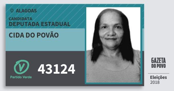Santinho Cida do Povão 43124 (PV) Deputada Estadual | Alagoas | Eleições 2018
