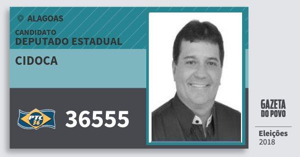 Santinho Cidoca 36555 (PTC) Deputado Estadual | Alagoas | Eleições 2018