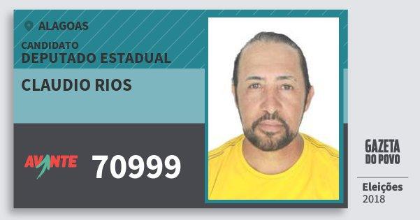 Santinho Claudio Rios 70999 (AVANTE) Deputado Estadual | Alagoas | Eleições 2018