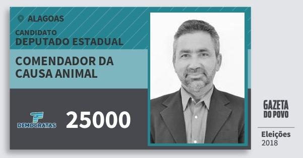 Santinho Comendador da Causa Animal 25000 (DEM) Deputado Estadual | Alagoas | Eleições 2018