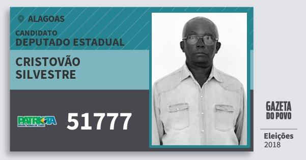 Santinho Cristovão Silvestre 51777 (PATRI) Deputado Estadual | Alagoas | Eleições 2018