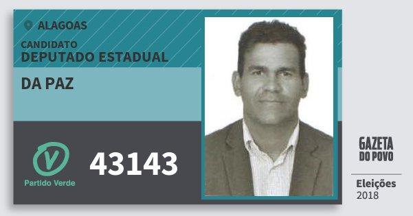 Santinho da Paz 43143 (PV) Deputado Estadual | Alagoas | Eleições 2018