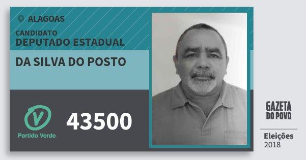 Santinho da Silva do Posto 43500 (PV) Deputado Estadual | Alagoas | Eleições 2018