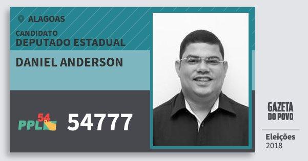 Santinho Daniel Anderson 54777 (PPL) Deputado Estadual | Alagoas | Eleições 2018