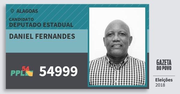 Santinho Daniel Fernandes 54999 (PPL) Deputado Estadual | Alagoas | Eleições 2018