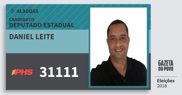 Santinho Daniel Leite 31111 (PHS) Deputado Estadual | Alagoas | Eleições 2018