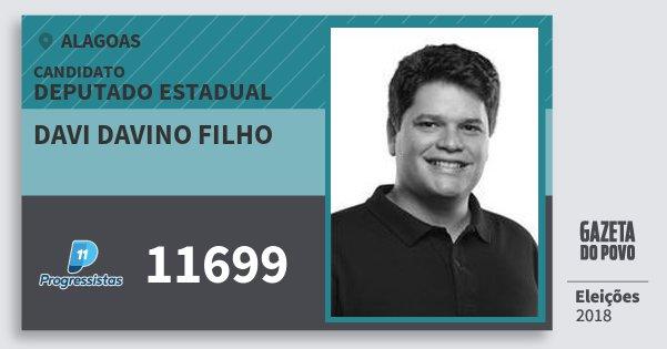 Santinho Davi Davino Filho 11699 (PP) Deputado Estadual | Alagoas | Eleições 2018