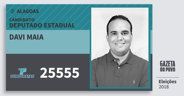 Santinho Davi Maia 25555 (DEM) Deputado Estadual | Alagoas | Eleições 2018