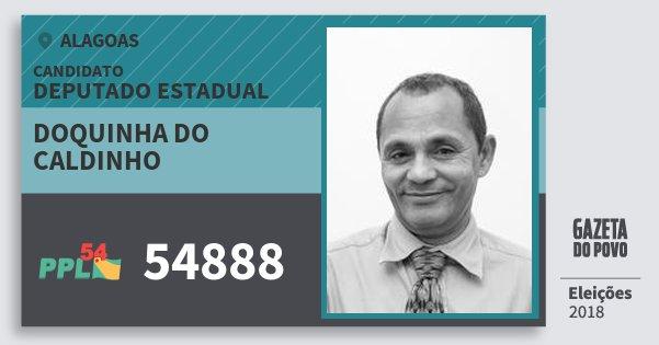 Santinho Doquinha do Caldinho 54888 (PPL) Deputado Estadual | Alagoas | Eleições 2018