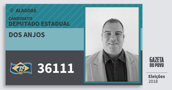 Santinho dos Anjos 36111 (PTC) Deputado Estadual | Alagoas | Eleições 2018