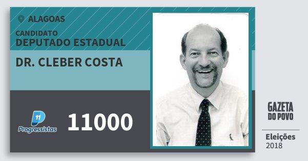 Santinho Dr. Cleber Costa 11000 (PP) Deputado Estadual | Alagoas | Eleições 2018