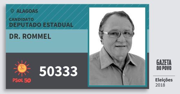 Santinho Dr. Rommel 50333 (PSOL) Deputado Estadual | Alagoas | Eleições 2018