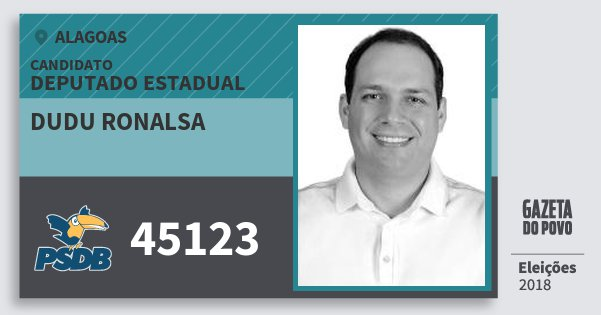 Santinho Dudu Ronalsa 45123 (PSDB) Deputado Estadual | Alagoas | Eleições 2018