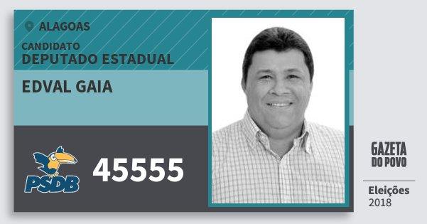 Santinho Edval Gaia 45555 (PSDB) Deputado Estadual | Alagoas | Eleições 2018