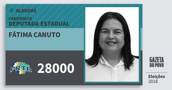 Santinho Fátima Canuto 28000 (PRTB) Deputada Estadual | Alagoas | Eleições 2018