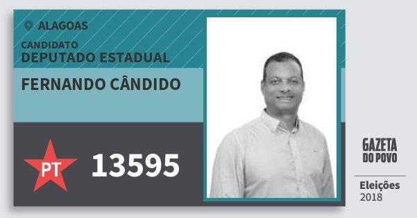 Santinho Fernando Cândido 13595 (PT) Deputado Estadual | Alagoas | Eleições 2018
