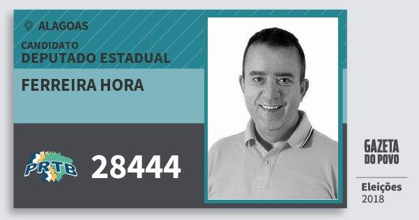 Santinho Ferreira Hora 28444 (PRTB) Deputado Estadual | Alagoas | Eleições 2018