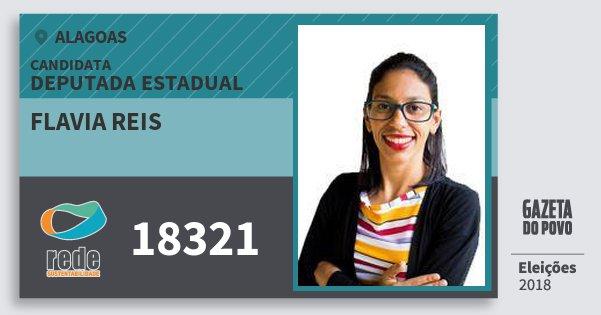 Santinho Flavia Reis 18321 (REDE) Deputada Estadual | Alagoas | Eleições 2018