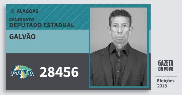 Santinho Galvão 28456 (PRTB) Deputado Estadual | Alagoas | Eleições 2018