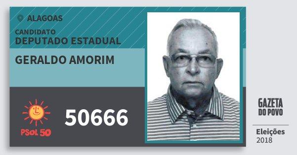Santinho Geraldo Amorim 50666 (PSOL) Deputado Estadual | Alagoas | Eleições 2018